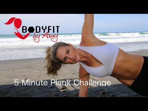 5 Minute Plank Challenge - For a Strong Core and Great Abs