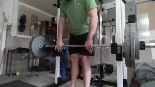 Barbell curl...again. 275x5  Better angle