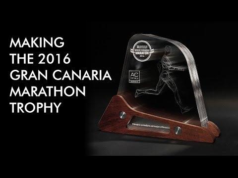 Making the 2016 Gran Canaria marathon trophy