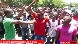 Angry UZ student leaders meet cameras[Funny]