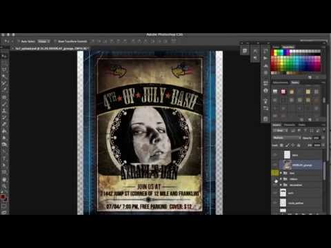 How to make a vintage rock Poster in Photoshop in 2 minutes