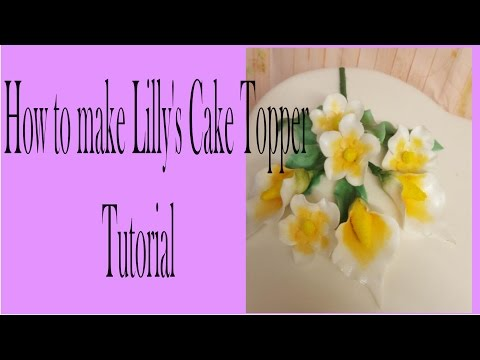 Making Lilly's bouquet cake topper