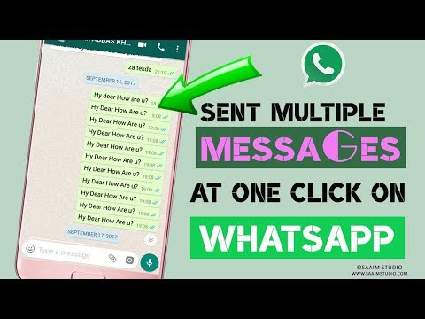 How to sent multiple messages at once on whatsapp?