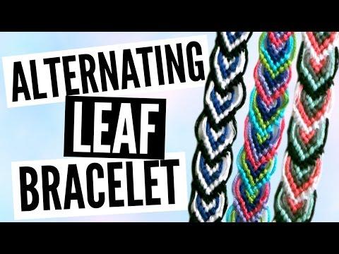 DIY Alternating Leaf/Leaves Friendship Bracelet Pattern Tutorial