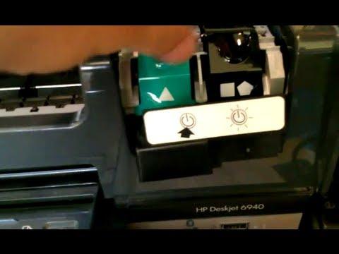 HP DeskJet 6940 Printer Cannot Change Ink, Latch Lock Problem