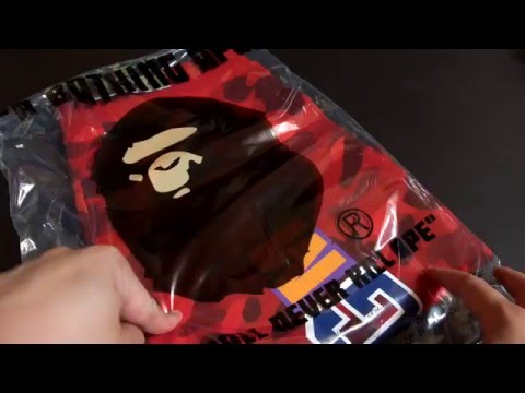 72935808ec88 Bathing Ape (BAPE) Red Color Camo Shark Sweat Shorts Unboxing   Review!
