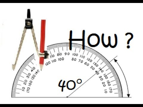 How to Draw 40° degree Angle with compass And scale