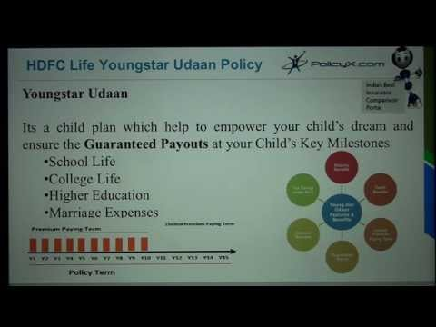HDFC Youngstar Udaan | PolicyX.com|Best child plans in india