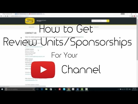 How to get Review Units & Sponsorships | Youtube