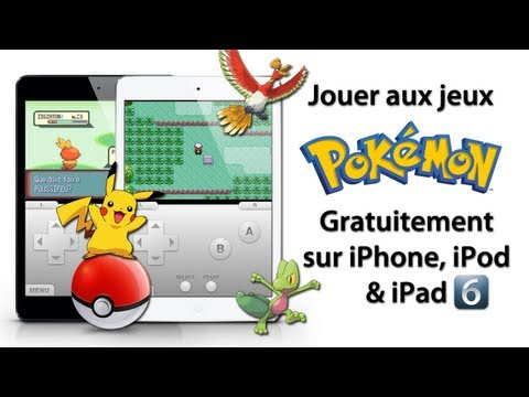 Jouer aux jeux Pokémon gratuitement sur iPhone, iPod Touch & iPad sous l'iOS 4/5/6