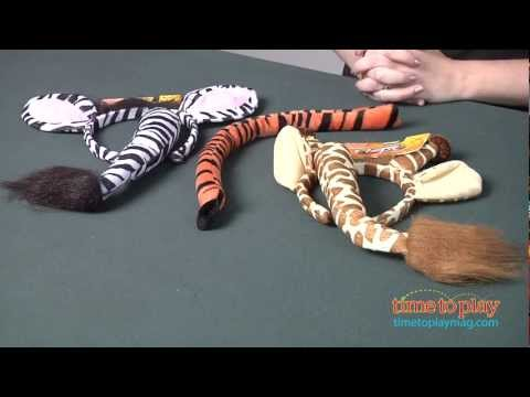 Zebra, Tiger, and Giraffe Costume Kits from Elope