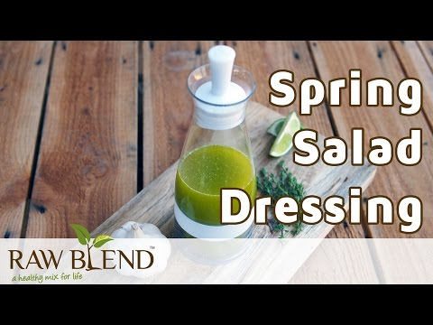 How to Make a Spring Salad Dressing in a Vitamix S30 Blender