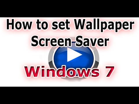 GTU CCC Practical Exam Video 10 how to set Wall paper and screensaver windows 7