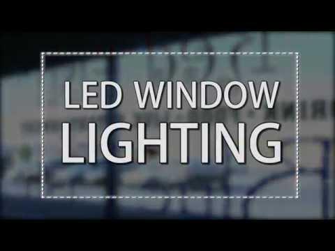 LED Window Lighting; Color Changing