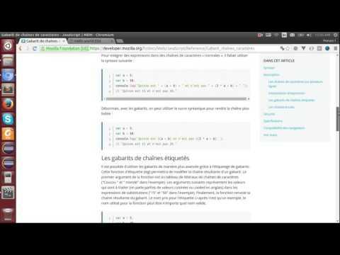 ECMAScript 6 - 9  - Les gabarits de chaîne de caractères ou template strings