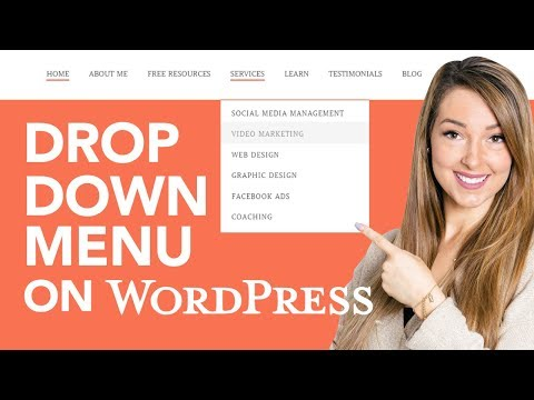 How To Make A Drop Down Menu On Wordpress