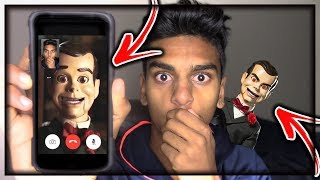 DO NOT FACETIME SLAPPY THE DUMMY (FROM GOOSEBUMPS) WHEN SPINNING A FIDGET SPINNER AT 3AM!!