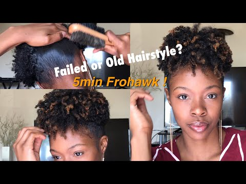 On-the-Go Hairstyle for Old or Failed  Styles||Curly Frohawk Type 4 Natural Hair