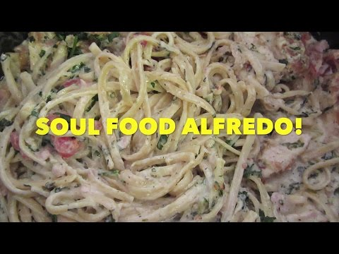 SOUL FOOD ALFREDO Recipe on Let's Get Greedy! How To #48