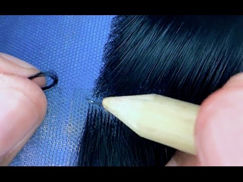 Lace wig making