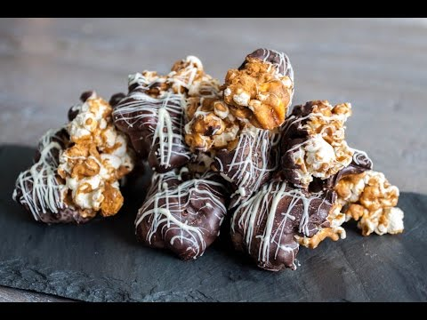 Caramel popcorn chocolate clusters recipe- 4 Mins or Less Recipes