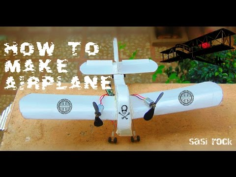 how to make home airplane with rc motors (crazy creaction)