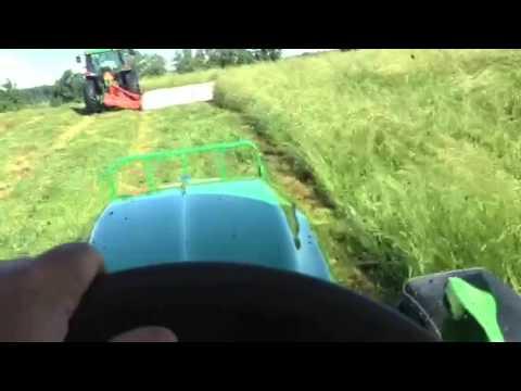 John Deere 6330 Premium hay cutting w/275 JD Disk Mower