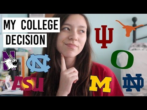 Where am I going to college? | my college decision + how I decided