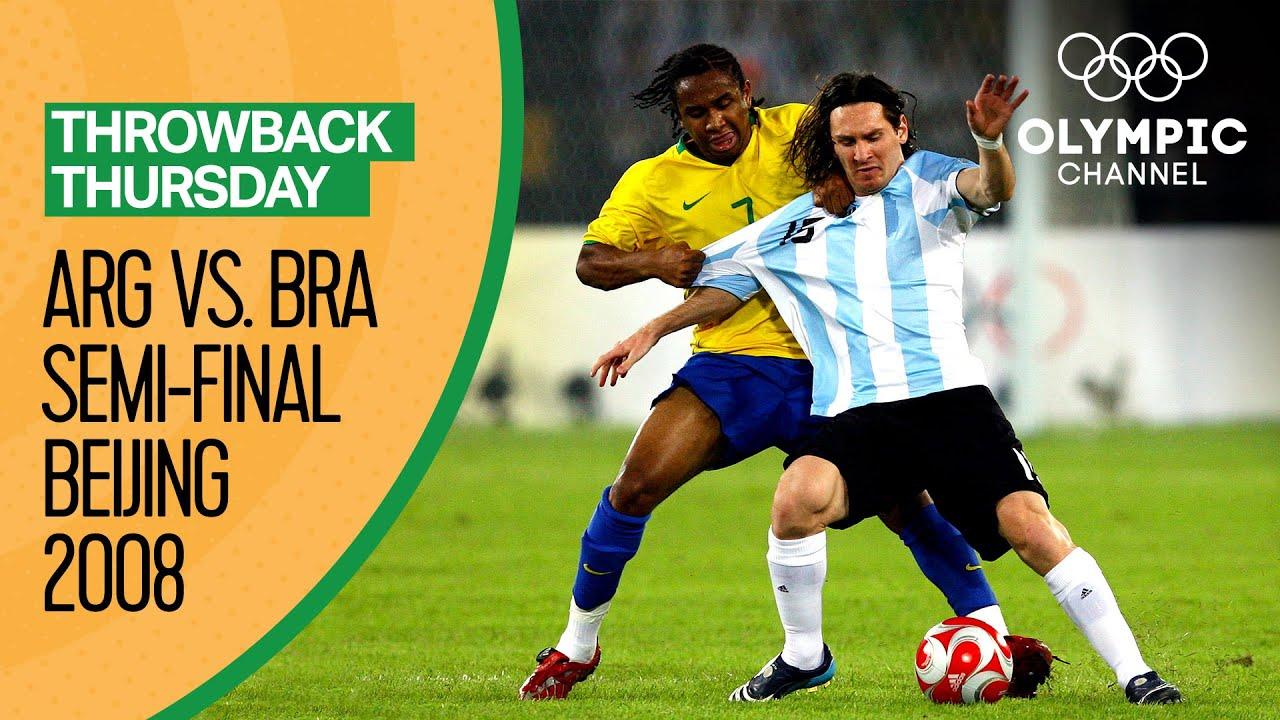 Argentina vs Brazil - Highlights | Men's Football Beijing 2008 | Throwback Thursday