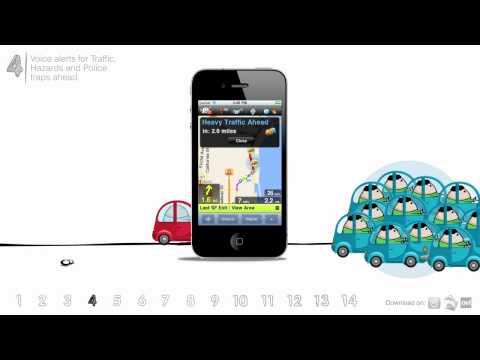 Waze Tip #4 - Voice alerts for hazards and police traps ahead | Waze