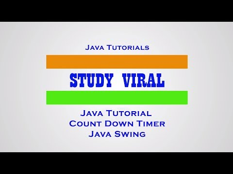 Java GUI - Count Down Timer (Java Swing) Using Netbeans - Study Viral