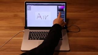 AirBar with Macbook Pro : Touch panel function for Mac