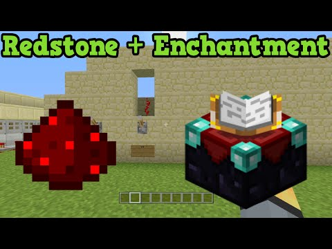 Minecraft Xbox 360 + PS3 - Pick Enchantment Level Redstone Build