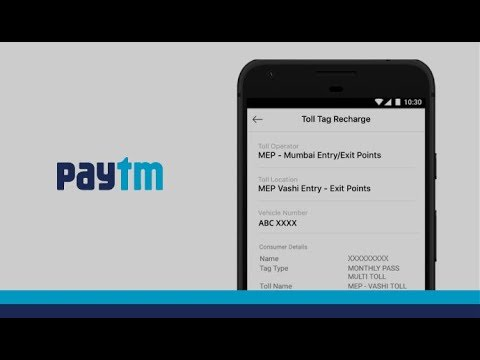 Steps to do a Toll Tag recharge using Paytm App