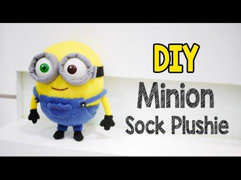DIY Minion Bob Sock Plushie Tutorial (Free Pattern)