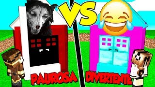 CASA *PAUROSA* contro CASA *DIVERTENTE* su MINECRAFT!!