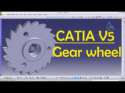 Gear wheel for beginners | CATIA V5 | Catia Part Design | Engineer AutoCAD