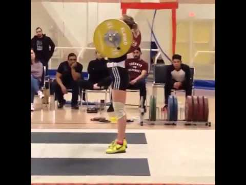 Lacey 100kg Clean & Jerk (side angle)