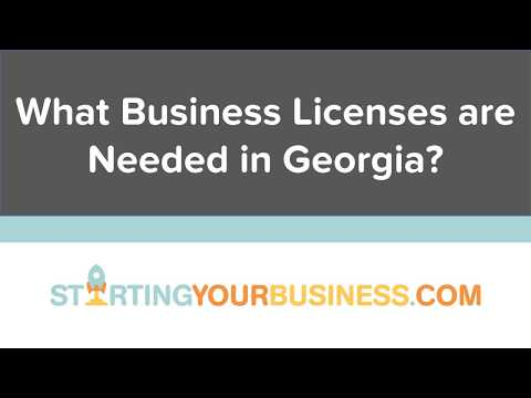 What Business Licenses are Needed in Georgia - Starting a Business in Georgia
