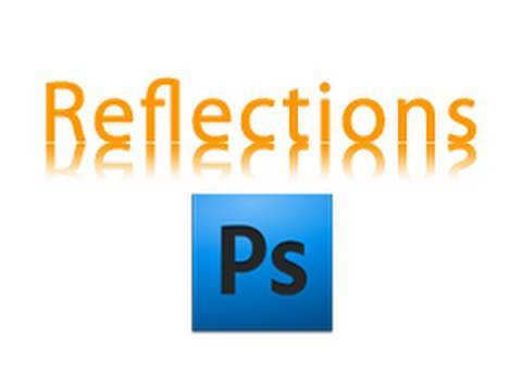 Add a Reflection to an Image or Text in Photoshop CS4 on Mac