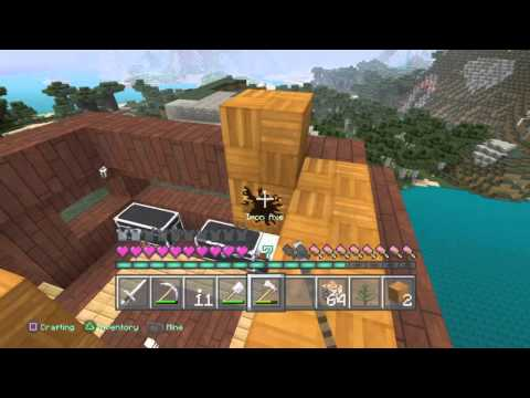 Minecraft PS4 3 Lives Hardcore ep 3: Building My Home