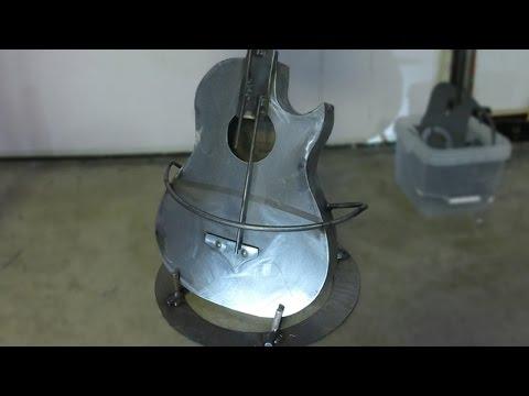 Metal Art - Steel Guitar Bar Stool