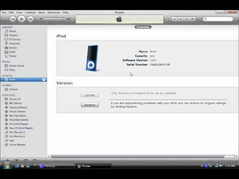 How To Restore And Reformat An ipod Nano 5th Generation To Factory Settings