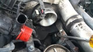 Mercedes OM642 Montage Luftleitung Luftmassenmesser HFM E280