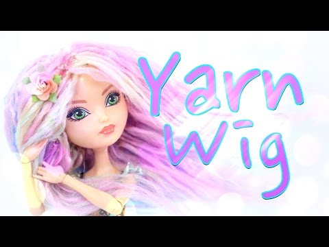 DIY - How to Make: Doll Yarn Wig - Handmade - Craft - 4K