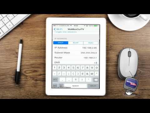 How To Setup DNS for iPad