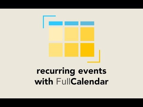 Episode #094 - Recurring Events on FulCalendar