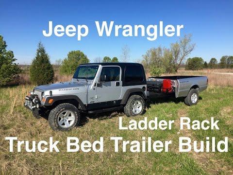 Off Road Truck Bed Trailer Ladder Rack Finished.
