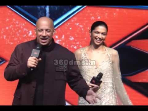 Xxx Mp4 XXX Vin Diesel Kisses Deepika Padukone At Press Conference Of XXX Return Of Xander Cage In India 3gp Sex
