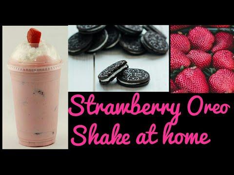 How To Make Strawberry Oreo Shake At Home | Homemade oreo shake | Quick and easy recipe